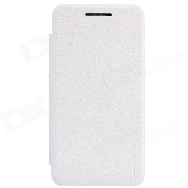NILLKIN Protective PU Leather + PC Case Cover for Asus ZenFone 4 (1600mAh) - White nillkin protective pu leather pc case cover for htc d316d d516t red