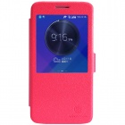 NILLKIN Fresh Series Protective PU Leather + PC Case w/ View Window for HUAWEI C199 - Red