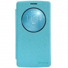 NILLKIN Star Series Protective PU Leather + PC Case w/ View Window for LG G3 Beat - Blue