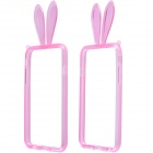 "Lovely Rabbit Ears Style Protective TPU Bumper Frame Case w/ Strap for IPHONE 6 4.7"" - Pink"
