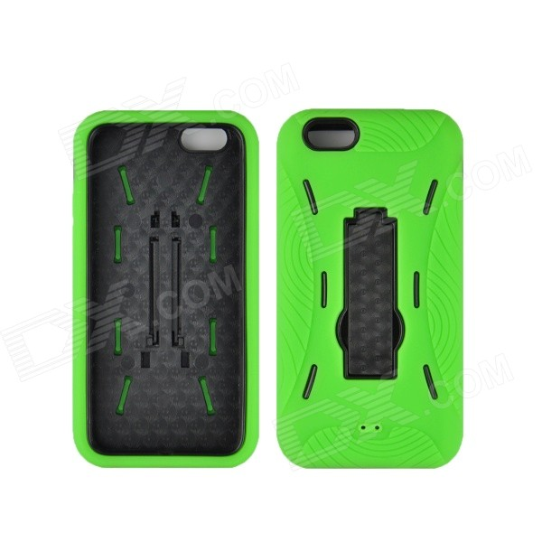 Angibabe 2 in 1 Hybrid Hard PC Case + Soft Silicone Back Cover for IPHONE 6 4.7 - Green for ipod touch 6 5 black friday series hard pc cover shell style h