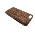 "Maya Totem Patterned Protective Wood Back Case Cover for IPHONE 6 4.7"" - Brown + Black"