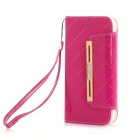 "Fashionable Purse Style PU + TPU Full Body Case w/ Card for IPHONE 6 4.7"" - Deep Pink"