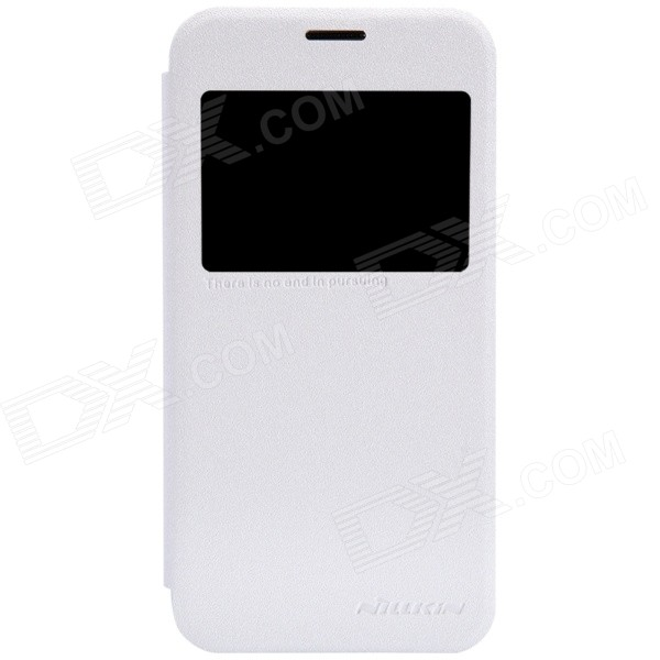 NILLKIN Protective PU Leather + PC Case Cover for Samsung Galaxy S5 Mini - White чехол для samsung g900f g900fd galaxy s5 nillkin sparkle leather case белый