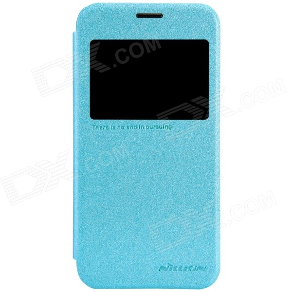 NILLKIN Protective PU Leather + PC Case Cover for Samsung Galaxy S5 Mini - Blue чехол для samsung g900f g900fd galaxy s5 nillkin sparkle leather case белый
