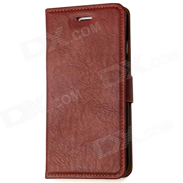 Mr.northjoe Protective PU Leather Flip-open Case w/ Stand for IPHONE 6 4.7 - Wine Red protective pu leather flip open case w stand for iphone 6 plus black