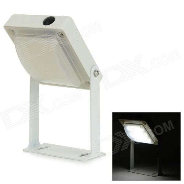 YJ-2006 0.4W 48lm 12-SMD 3528 LED White Solar Desktop / Wall Lamp - White + Blue