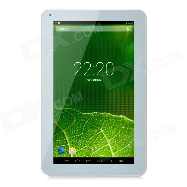 YQ-V12 10.1 Android 4.4 ATM7029 Quad-Core Tablet PC w/ 1GB RAM, 8GB ROM, Bluetooth, Wi-Fi - White sosoon x88 quad core 8 ips android 4 4 tablet pc w 1gb ram 8gb rom hdmi gps bluetooth white