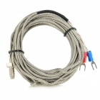 K Type Thermocouple w/ M6 Screw Cable - Silver + Grey (4.4m)
