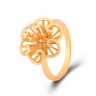 KCCHSTAR Women's Chrysanthemum Style Gold-plated Finger Ring - Golden (US Size: 8)
