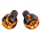MZ Short Universal Aluminum Alloy Motorcycle Handlebar Ends Caps / Plugs - Golden ( Pair)