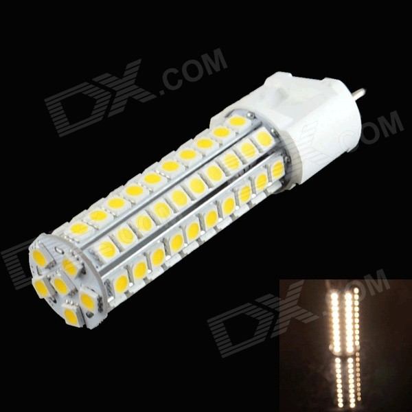 XGHF G12 10W 500lm 3000K 86-SMD 5050 LED Warm White Corn Lamp - White (AC 220~240V) xghf g9 2 5w 200lm 3000k 18 smd 2835 led warm white light lamp white ac 220 240v