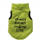 LB-B0001 English Letters Pattern Cotton-padded Vest for Pet Cat / Dog - Fluorescent Green (Size S)