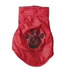 LB-B0006 Lovely Footprint Pattern Cotton-padded Vest for Vest for Pet Cat / Dog - Red (Size S)