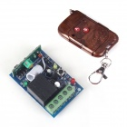 ZnDiy-BRY RF DC12V 1CH Learning Code Remote Control Switch w/ Controller - Brown