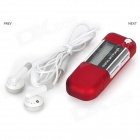 "1.2 ""TFT Digital USB MP3 Player w / FM - Vermelho (8GB)"