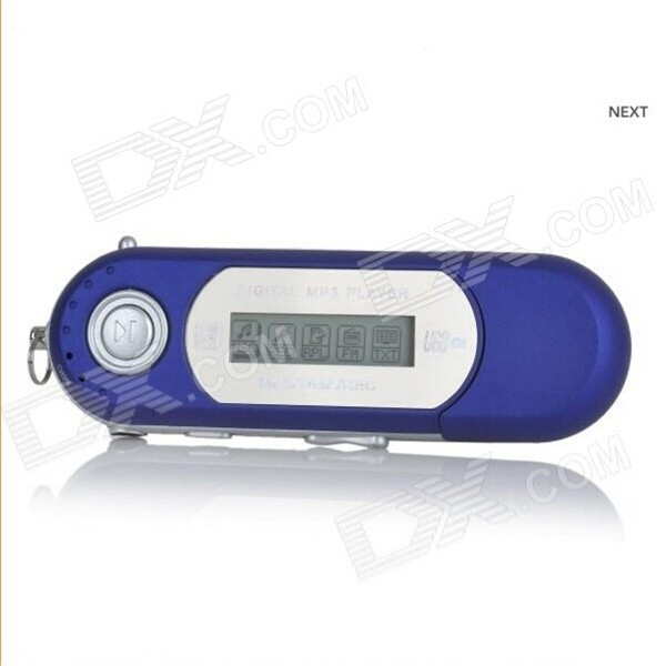 Portable 1.2 TFT USB Digital MP3 Player w/ FM - Blue (8GB / 1 x AAA)MP3 Players<br>Form  ColorBlueBuilt-in Memory / RAM8GBQuantity1 DX.PCM.Model.AttributeModel.UnitMaterialABSShade Of ColorBlueScreen TypeTFTTouch Screen TypeNoScreen Size1.2 DX.PCM.Model.AttributeModel.UnitScreen Resolution128 x 64Screen ColorNoMemory Card TypeNoMax Extended CapacityDo not support the expansion cardAudio Compression FormatMP3,WAV,WMAVideoNoRecord Audio FormatNoImagesOthers,Does not supportE-bookOthers,NoTuner BandsFMFM Frequency87.5~108MHzHeadphone Jack3.5mmWorking Time10 DX.PCM.Model.AttributeModel.UnitBattery TypeAAAPower SupplyDC 5VLoud Speaker Function NoLyrics DisplayYesMenu LanguageEnglish,French,German,Italian,Spanish,Portuguese,Russian,Polish,Danish,Dutch,Arabic,Turkish,Japanese,Bahasa Indonesia,Korean,Thai,Hungarian,Czech,Swedish,Chinese Simplified,Chinese Traditional,HebrewAudio ModeNatural,Rock,Jazz,Classical,Live,Dancing,PopularDisplay ModeMP3Packing List1 x MP31 x Earphone (96cm)<br>