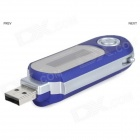 "Portátil 1.2 ""TFT Digital USB MP3 Player w / FM - azul (8GB / 1 * AAA)"