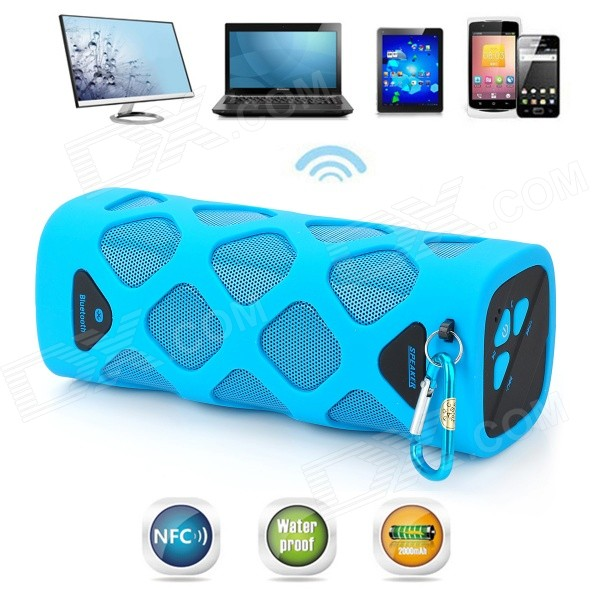 VINA Portable Outdoor Wireless Bluetooth V4.0 NFC Mini Speaker for Cellphone / Tablet / PC - Blue