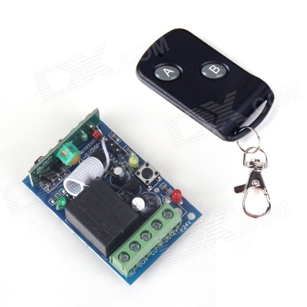 ZnDiy-BRY RF DC12V 1CH Learning Code Remote Control Switch w/ Controller - Black zndiy bry rf dc12v 1 ch learning code remote control switch w controller black
