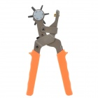 6-in-1 Extra Strength Carbon Steel Hole Punch Pliers - Silver Grey + Orange