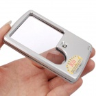 BIJIA Business Card Style 6X / 3X Magnifier w/ Light - Silver