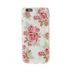 "Kinston KST92265 Red Flowers Pattern TPU Back Case for IPHONE 6 4.7"" - White + Red"
