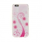 "Kinston Pink Art Tree Pattern TPU Soft Case for IPHONE 6 4.7"" - White + Pink"