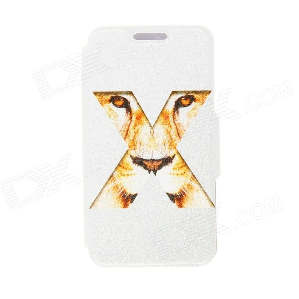 Kinston X Tiger Eyes Pattern PU Leather Full Body Cover with Stand for IPHONE 6 PLUS fierce tiger hard case cover for iphone 6s 6 4 7 inch