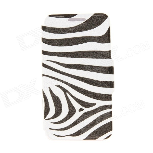 Kinston Zebra Skin Pattern PU Leather Full Body Cover with Stand for IPHONE 6 PLUS kinston flowers