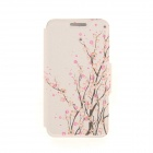 "Kinston Plum Flower Pattern PU Leather Case for IPHONE 6 4.7"" - Pink + Black"