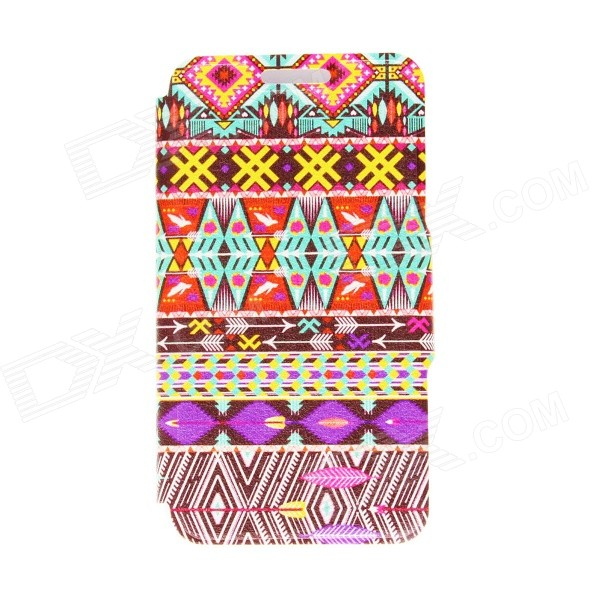 Kinston Colorful Pattern PU Leather Full Body Cover Case w/ Stand for IPHONE 6 PLUS 5.5 женские часы pierre ricaud p22002 5g13q