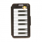 Kinston Dream of The Piano Pattern PU Leather Full Body Cover Case w/ Stand for IPHONE 6 PLUS 5.5""
