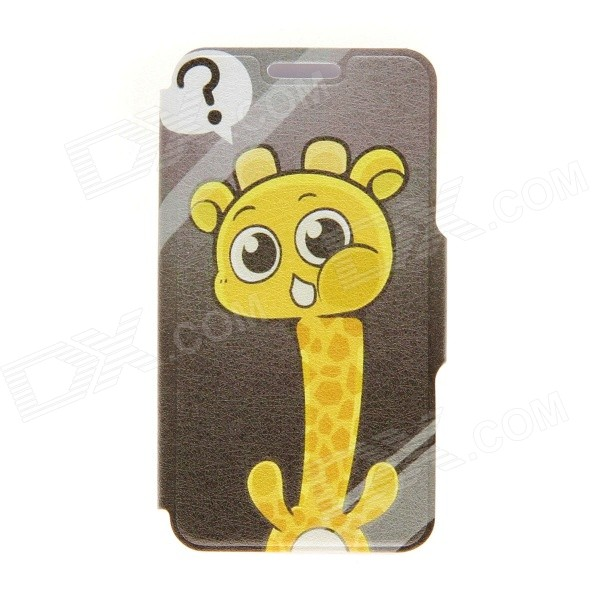 Kinston Giraffe's Question Pattern PU Leather Full Body Cover with Stand for IPHONE 6 PLUS orient часы orient staa005w коллекция dressy elegant gent s