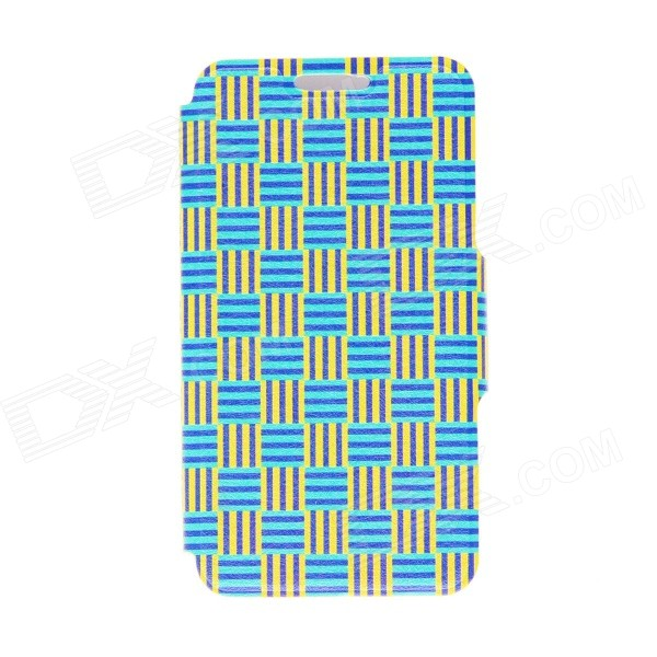 Kinston Woven Ribbon Pattern PU Leather Full Body Cover Case w/ Stand for IPHONE 6 PLUS 5.5 kinston a fat cat pattern pu leather full body case cover stand for iphone 6 plus white grey