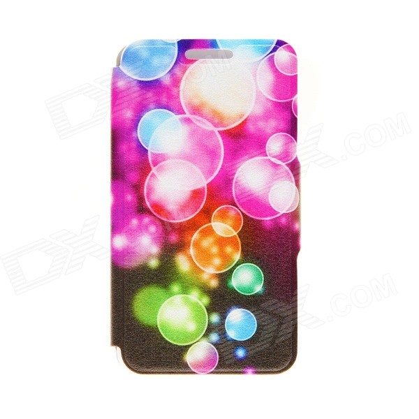 Kinston Color Bubble Pattern PU Leather Full Body Cover Case w/ Stand for IPHONE 6 PLUS 5.5 kinston kst91872 ladybug petunia w rhinestones pattern pu case w stand for iphone 6 multicolored