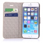 "ENKAY Protective PU Leather Case w/ Stand + Card Slot for IPHONE 6 PLUS 5.5"" - Beige + Black"