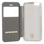 "Smart Touch Slide Answer Phone Design PU Leather Flip Cases w/ Stand for IPHONE 6 4.7"" - White"