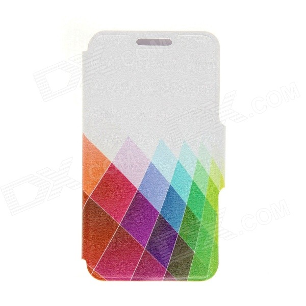 Kinston Color Diamond Pattern PU Leather Full Body Cover Case w/ Stand for IPHONE 6 PLUS 5.5 kinston a fat cat pattern pu leather full body case cover stand for iphone 6 plus white grey