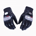 PRO-BIKER DXMS-02 Skid-Proof Full Finger Motorcycle Racing Gloves - Black (Pair / Size XL)