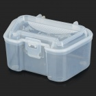 Clip-on Fresh Fishing Bait Earthworm Storage Box w/ Air Holes - Transparent White
