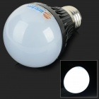 ZDM E27 5W 450lm 6500K 10-SMD 5730 LED White Light Bulb - Black + Silver (AC 85~265V)
