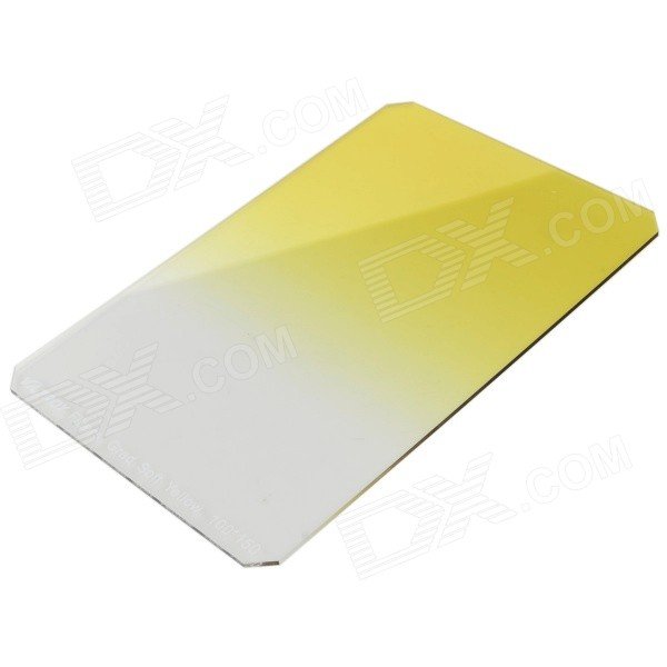 VILTROX JBJ004 Universal 100 x 150mm Square Graduated Yellow Filter for DSLR Camera - Yellow sing 52mm full yellow color filter for dslr filter yellow black