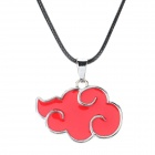 Stylish Red Could Style Pendant Necklace - Red + Silver