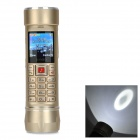 "A7 LED White Flashlight / Power Bank / GSM Phone w/ TF, Dual-SIM, 2.0"" Screen, Bluetooth - Golden"