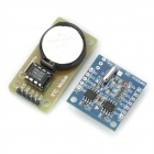 DS1302 + DS1307 Real-Time Clock Módulos estojo - Azul + Verde + Preto