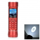 "A7 LED White Flashlight / Power Bank / GSM Phone w/ TF, Dual-SIM, 2.0"" Screen, Bluetooth - Red"