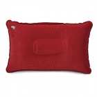 Outdoor Inflatable Rectangle Flocking Pillow - Red