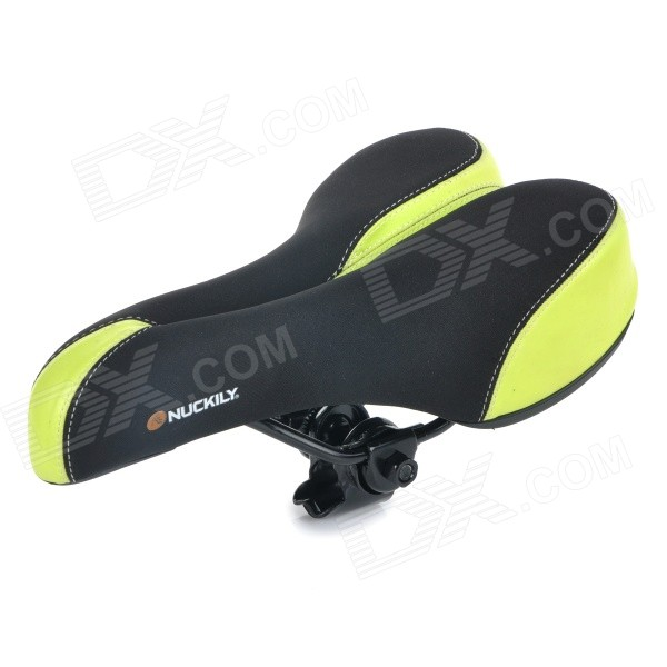 NUCKILY S003 Outdoor Cycling Ventilate Breathable Lycra + Silicone Bike Saddle - Green + Black new arrival carbon saddle bicycle bike saddle seat road bike saddle sillin bicicleta sillin carbono sella carbonio