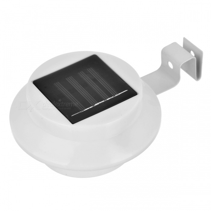 MLSLED Waterproof 0.5W 40lm 3-SMD 3528 LED White Solar Powered Garden Wall Lamp - White (1.2V)